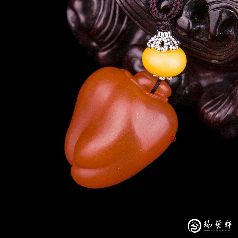 【琢艺轩】四川凉山南红玛瑙樱桃红挂件   红火   9克