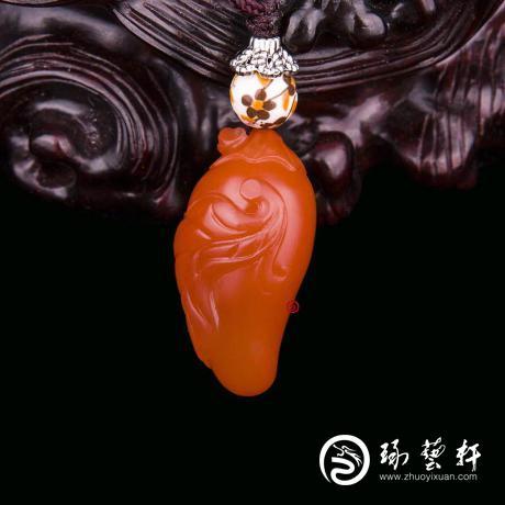 四川凉山南红玛瑙樱桃红挂件   红火   6克