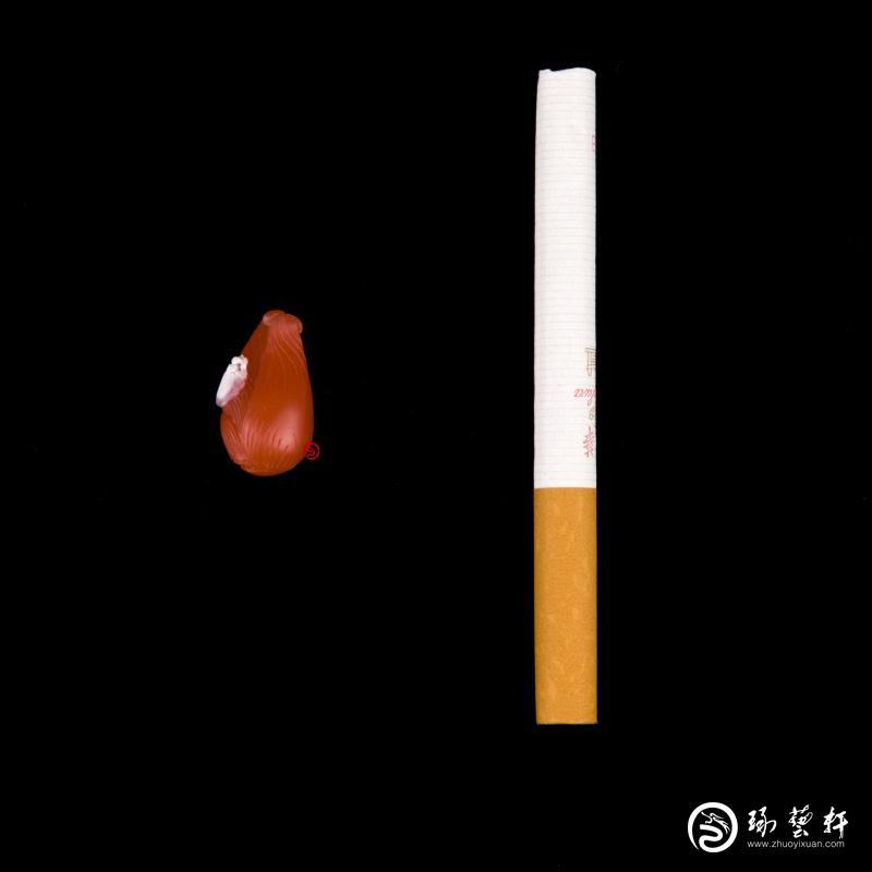 【琢艺轩】四川凉山南红玛瑙柿子红挂件 富甲一方 2克