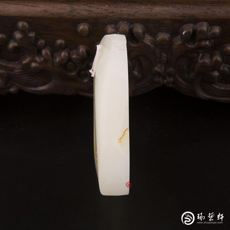 【琢艺轩】新疆和田玉洒金皮羊脂白玉籽玉原料 78.6克