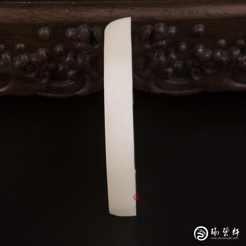 【琢艺轩】新疆和田玉洒金皮羊脂白玉籽玉原料 81克