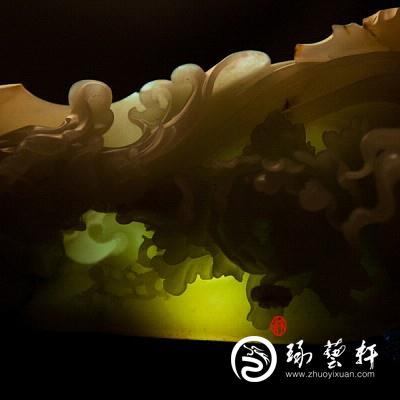 【琢艺轩】穆宇静 新疆和田玉秋梨皮白玉籽玉摆件 麻姑献寿 855克