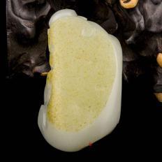 【琢艺轩】宋建东  新疆和田玉红皮一级白玉籽玉把件 天官赐福 183克