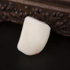 【琢艺轩】新疆和田玉洒金皮羊脂白玉籽玉原料 110.5克
