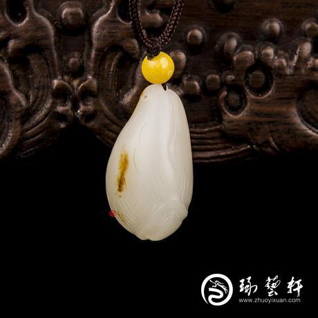 新疆和田玉一级白玉籽玉挂件 春芽(独籽) 13克