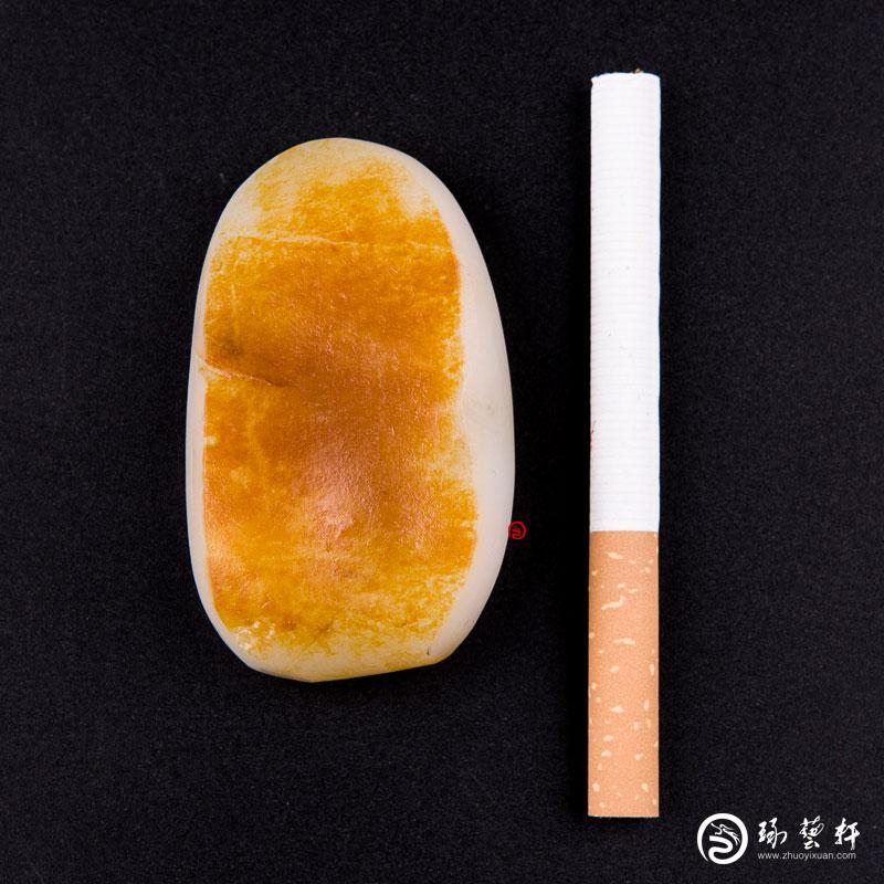 【琢艺轩】新疆和田红皮白玉籽玉 原料 74克