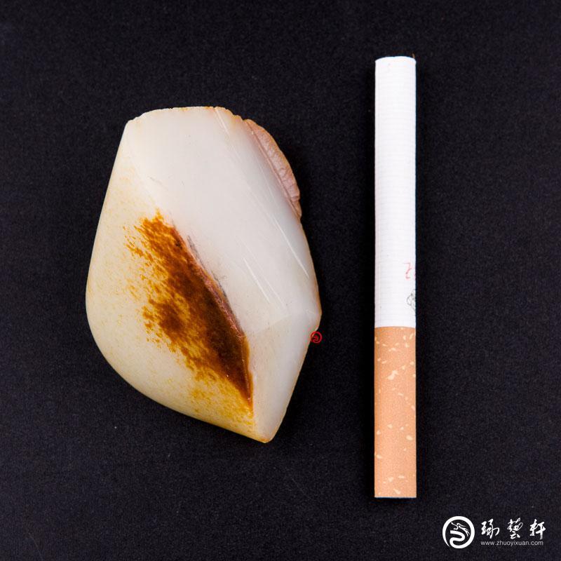 【琢艺轩】新疆和田红皮白玉籽玉 原料 95克
