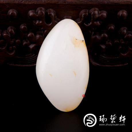 新疆和田洒金皮羊脂白玉籽玉 原石 36.2克