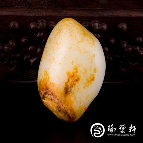 新疆和田红皮一级白玉籽玉 原石 102.6克