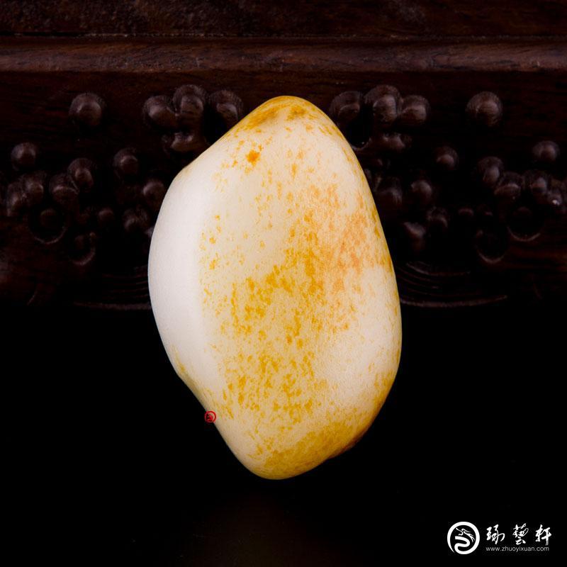【琢艺轩】新疆和田红皮一级白玉籽玉 原石 102.6克