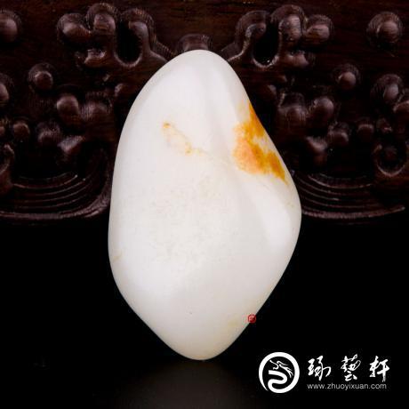 新疆和田黄沁皮羊脂白玉籽玉 原石 37克
