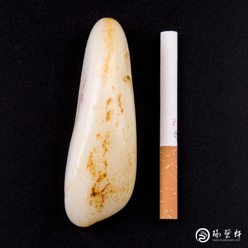 【琢艺轩】新疆和田黄皮羊脂白玉籽玉 原石134克