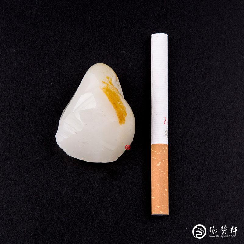 【琢艺轩】新疆和田黄皮一级白玉籽玉 原石 50克