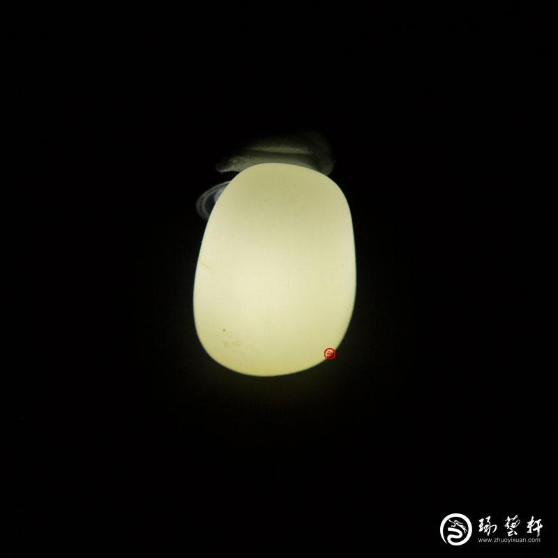 【琢艺轩】新疆和田玉白皮白玉籽玉 原石 13.8克
