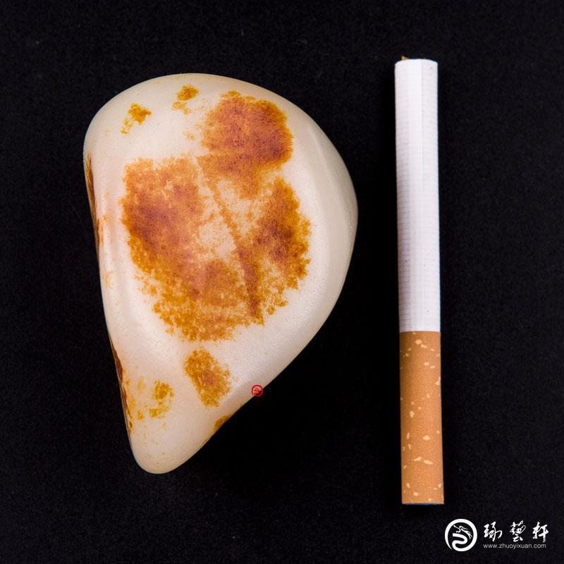 【琢艺轩】新疆和田玉红皮白玉籽玉 原石 229克