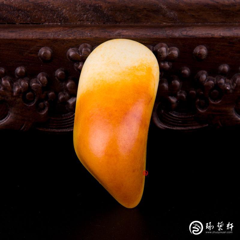 【琢艺轩】新疆和田玉黄沁白玉籽玉 原石 136.5克