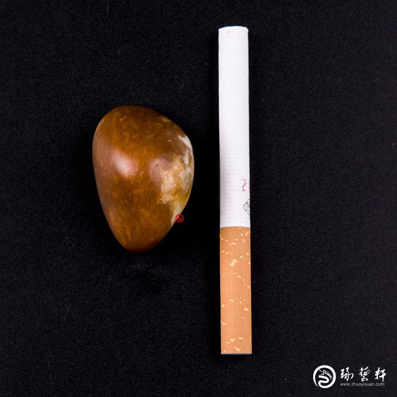 【琢艺轩】新疆和田玉枣红皮白玉籽玉 原石 35.3克