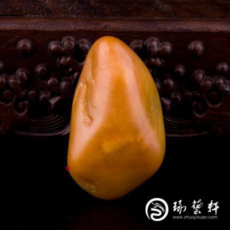 新疆和田玉黄沁白玉籽玉 原石 68.7克