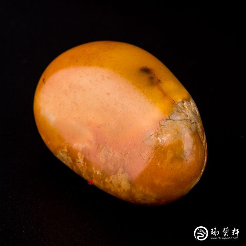 【琢艺轩】新疆和田玉黄沁白玉籽玉 原石 93.1克