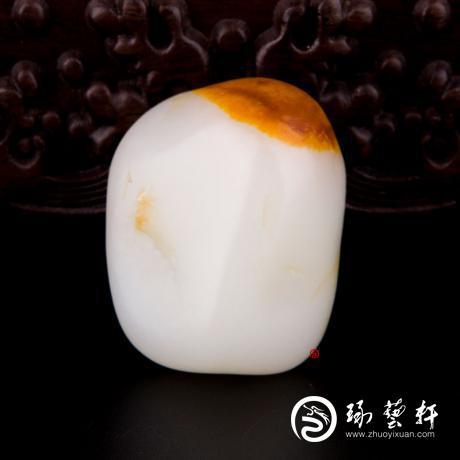 新疆和田玉红沁羊脂白玉籽玉 原石 64.8克