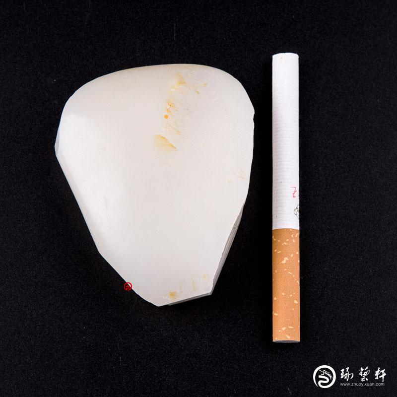 【琢艺轩】新疆和田玉洒金皮羊脂白玉籽玉 原石 149克