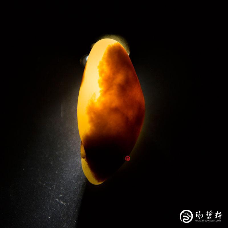 【琢艺轩】新疆和田玉红沁白玉籽玉 原石 35克