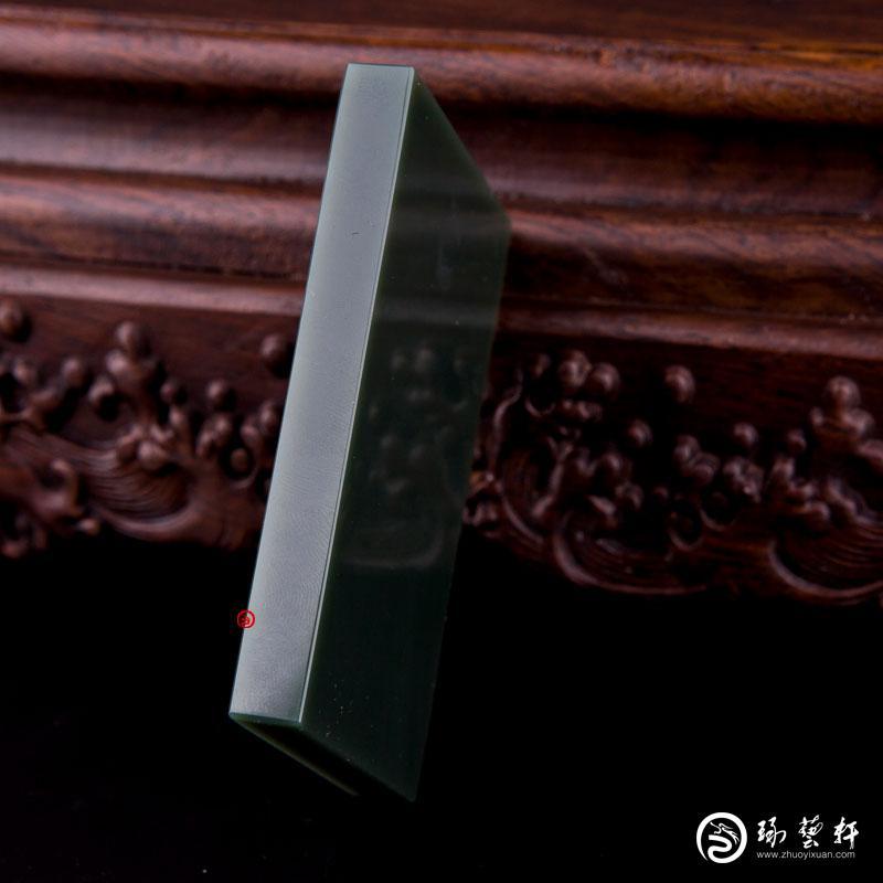 【琢艺轩】新疆和田玉青玉籽玉 原石 160.9克