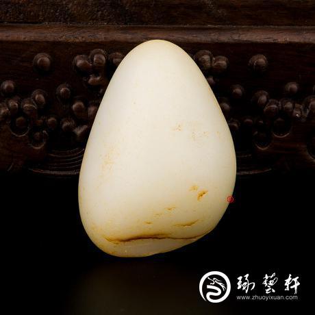新疆和田玉黄皮一级白玉籽玉 原石 103克