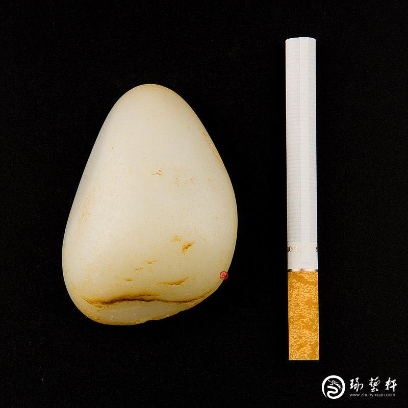 【琢藝軒】新疆和田玉黃皮一級白玉籽玉 原石 103克