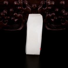 【琢艺轩】新疆和田白皮羊脂白玉籽玉原料 52克