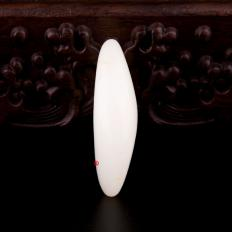 【琢藝軒】新疆和田灑金皮羊脂白玉籽玉 原石 36.2克