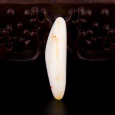 【琢艺轩】新疆和田洒金皮羊脂白玉籽玉 原石 36.2克