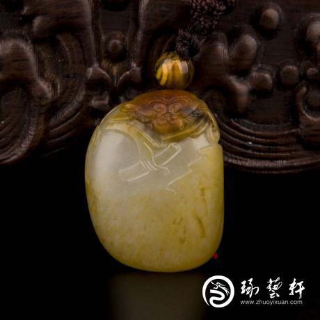 新疆和田白玉红皮籽玉挂件(独籽) 灵猴 19克