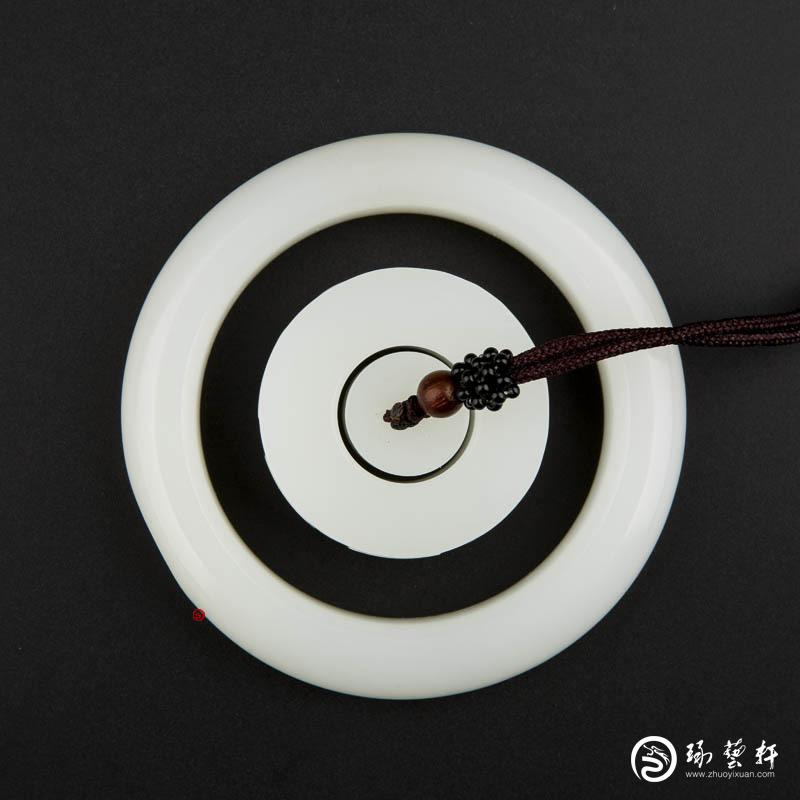 【琢艺轩】穆宇静 新疆和田玉黄皮羊脂白玉籽玉 手镯一套 139克