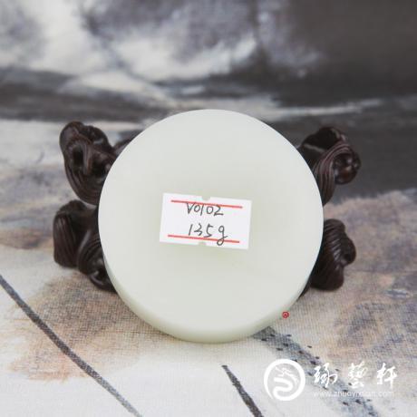 新疆和田玉白皮一级白玉籽玉原料 手镯心 134.8克
