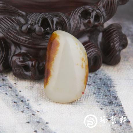 新疆和田玉枣红皮一级白玉籽玉 原石 10.7克