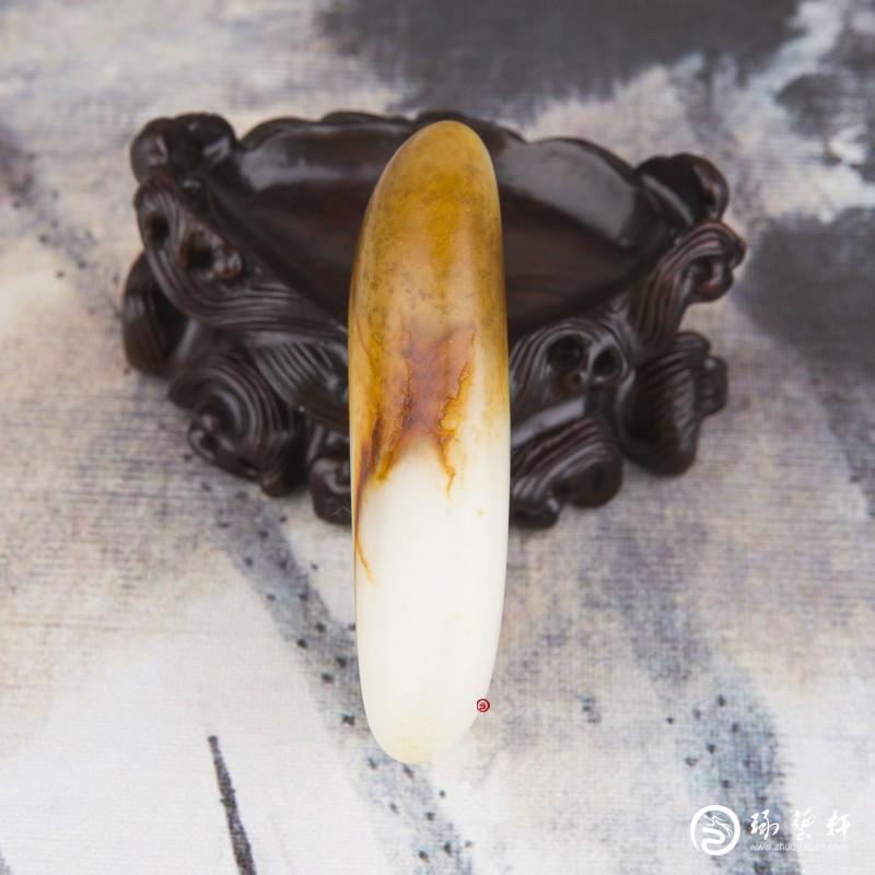 【琢艺轩】新疆和田玉红皮一级白玉籽玉 原石 120克
