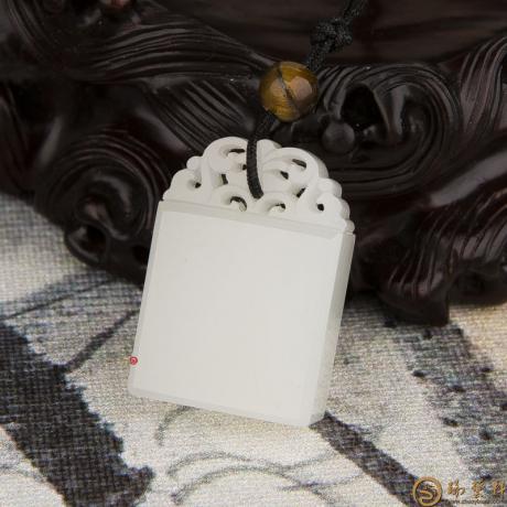 新疆和田玉羊脂白玉籽玉挂件 平安牌 15克