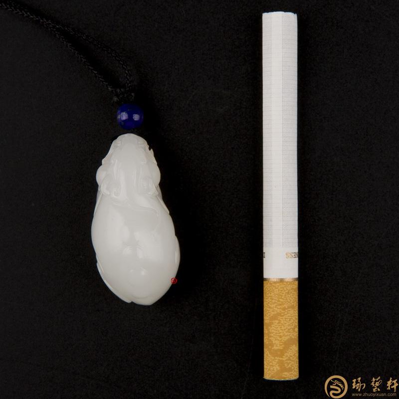 【琢艺轩】新疆和田玉羊脂白玉籽玉挂件 貔貅 22克