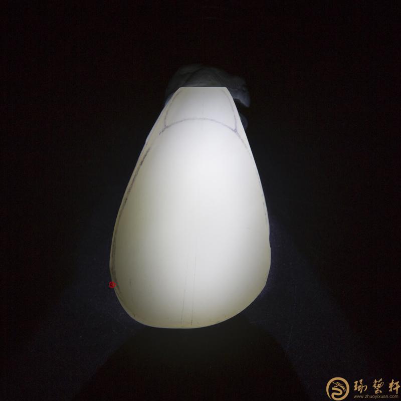 【琢艺轩】新疆和田玉白皮一级白玉籽玉 原料 69克