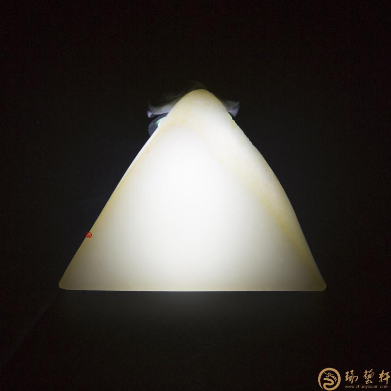 【琢艺轩】新疆和田玉洒金皮羊脂白玉籽玉 原料 52.4克