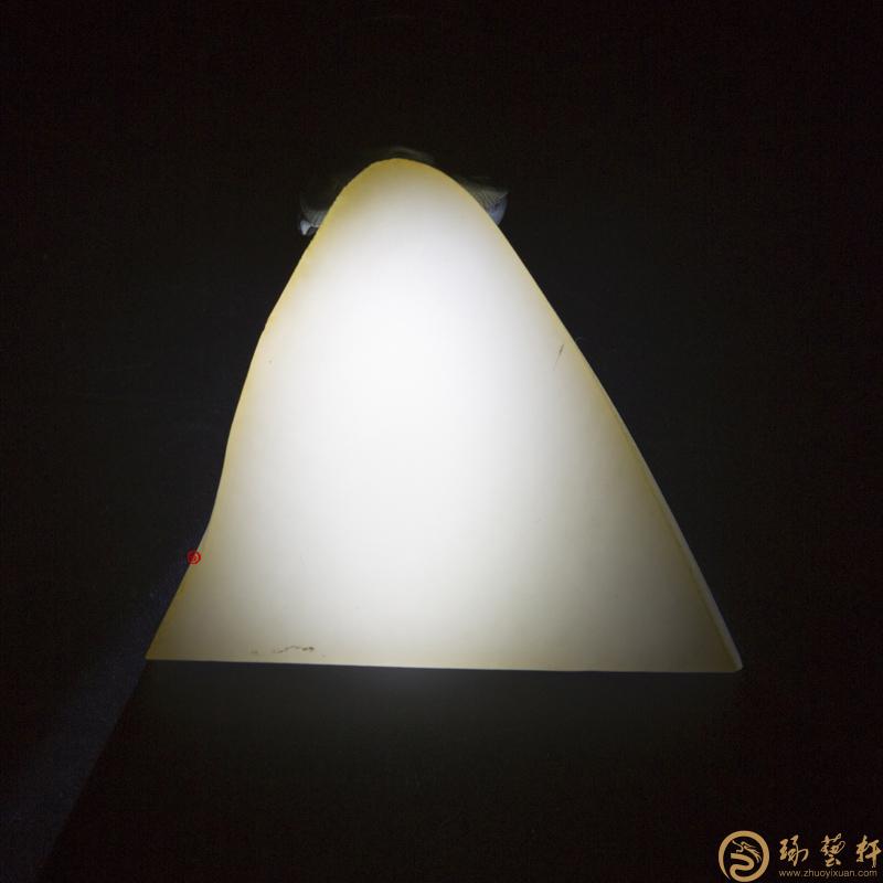 【琢艺轩】新疆和田玉洒金皮羊脂白玉籽玉 原料 60.4克