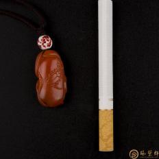 【琢艺轩】四川凉山南红玛瑙挂件 有福同享 8.7克