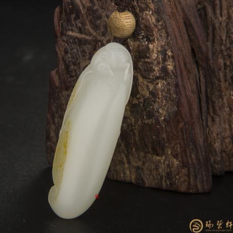 新疆和田玉黄皮白玉籽玉 安居乐业(客户代卖) 18克