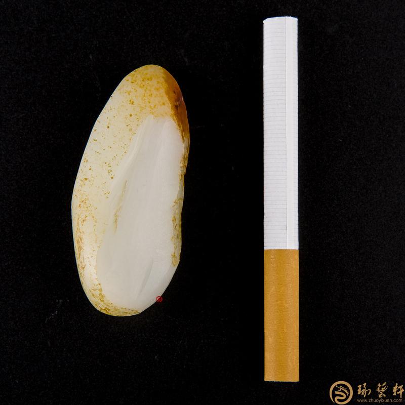 【琢藝軒】新疆和田玉紅皮羊脂白玉籽玉 原料 37.5克
