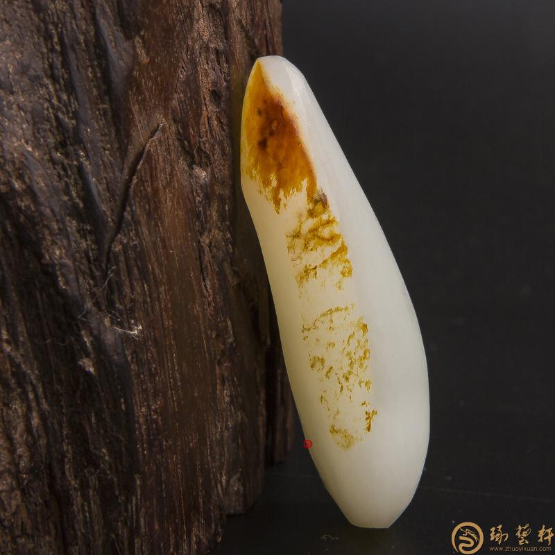 【琢艺轩】新疆和田玉红皮羊脂白玉籽玉 原料 37.5克