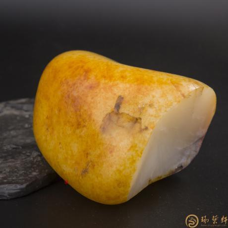 新疆和田玉红皮羊脂白玉籽玉 原料 359克
