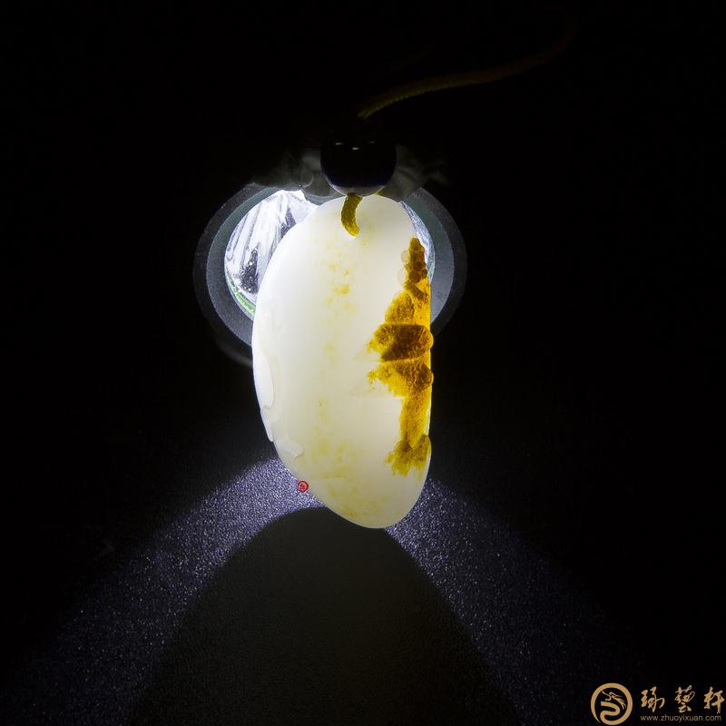 【琢艺轩】新疆和田玉红皮白玉籽玉挂件(独籽) 江南 6克
