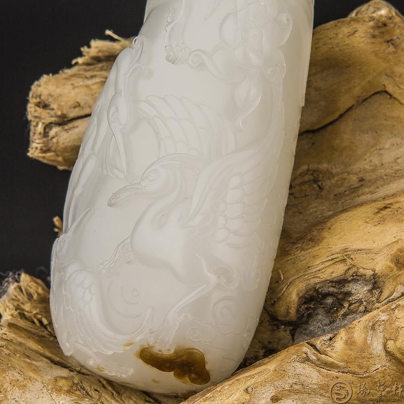 【琢艺轩】新疆和田玉黄皮羊脂白玉籽料把件 路路有福 78克(客户代卖)