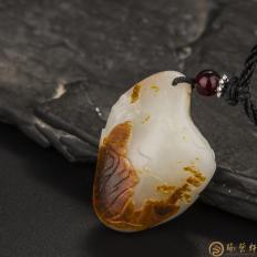 【琢艺轩】新疆和田玉红皮白玉籽玉挂件 坐禅(独籽) 12.2克